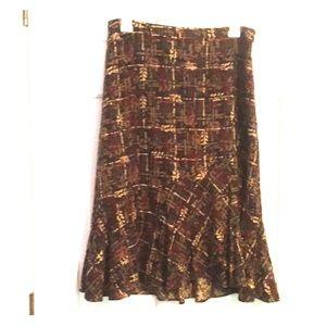 Ann Taylor Loft asymmetrical skirt